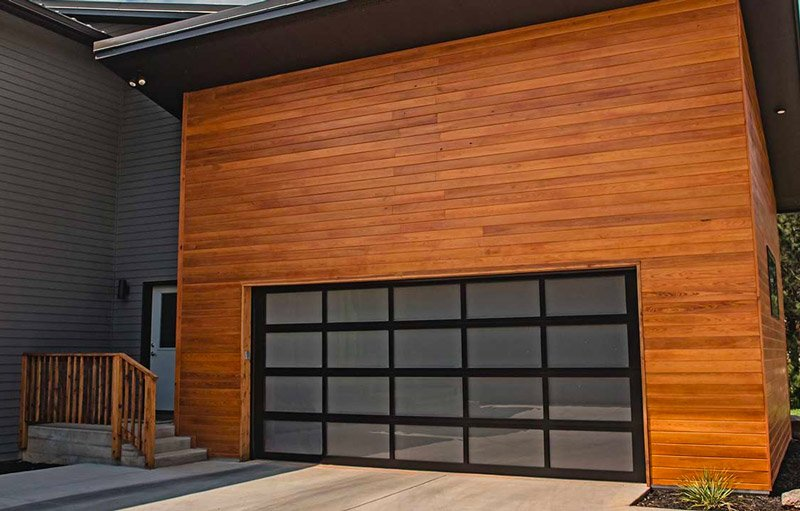 residential garage doors CHI 3296 Aluminum Full View garage door