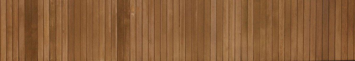 Close up of custom wood garage door