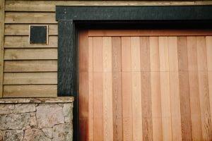 custom garage door projects, western red cedar