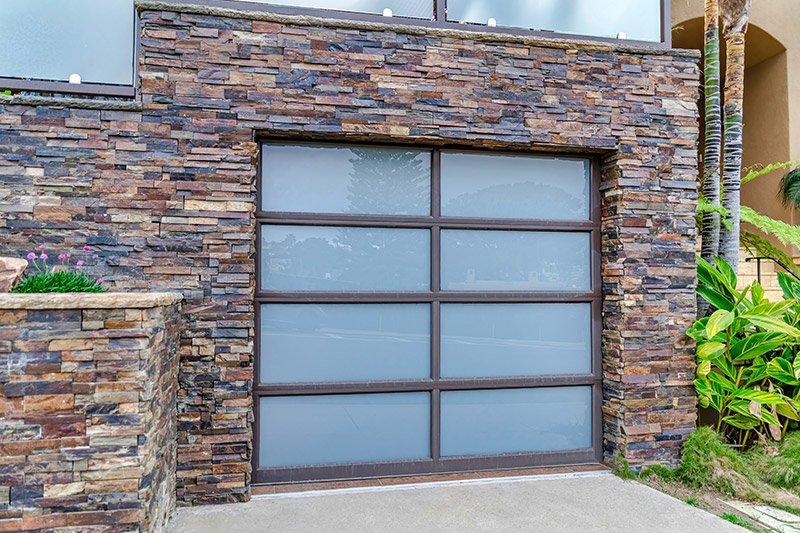 all glass garage door