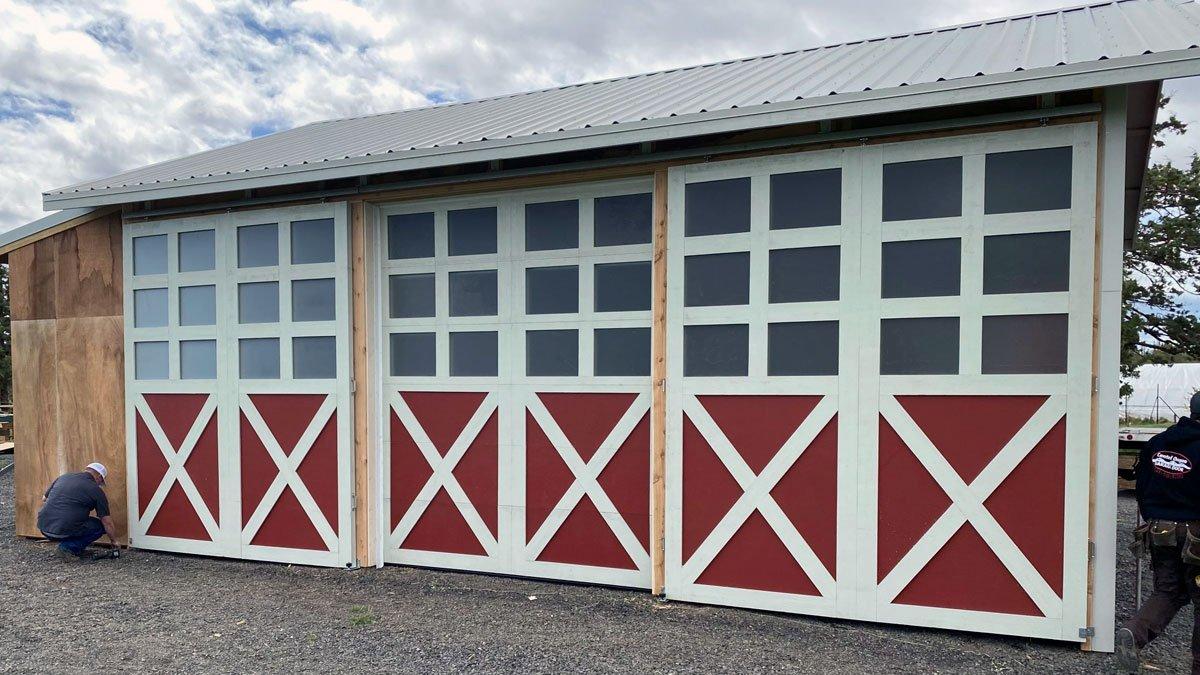 Custom barn wood garage door